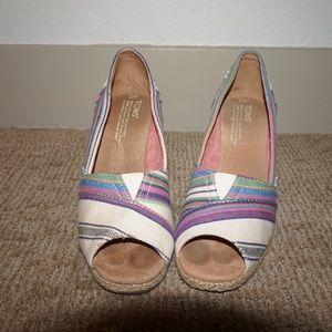 Toms Striped Wedge